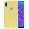 BackCover Hoesje Color Telefoonhoesje Huawei Y6 (Prime) 2019 - Geel