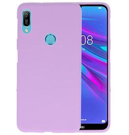 Color TPU Hoesje Huawei Y6 (Prime) 2019 Paars