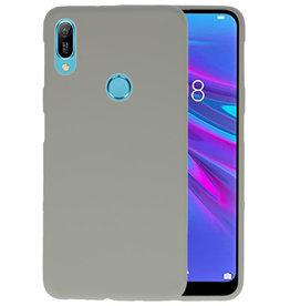 BackCover Hoesje Color Telefoonhoesje Huawei Y6 (Prime) 2019 - Grijs