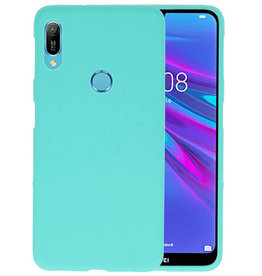 BackCover Hoesje Color Telefoonhoesje Huawei Y6 (Prime) 2019 - Turquoise