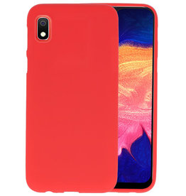 Color TPU Hoesje Samsung Galaxy A10 Rood