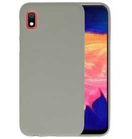 Color TPU Hoesje Samsung Galaxy A10 Grijs