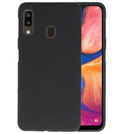 Color TPU Hoesje Samsung Galaxy A20 Zwart