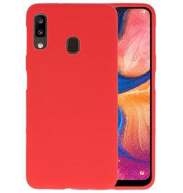 BackCover Hoesje Color Telefoonhoesje Samsung Galaxy A20 - Rood