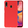 BackCover Hoesje Color Telefoonhoesje Samsung Galaxy A20 - Rood