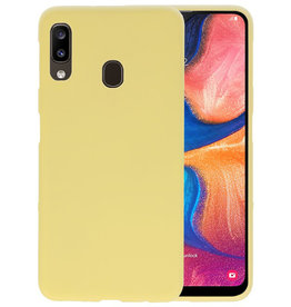 Color TPU Hoesje Samsung Galaxy A20 Geel