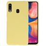 BackCover Hoesje Color Telefoonhoesje Samsung Galaxy A20 - Geel