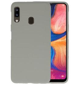 Color TPU Hoesje Samsung Galaxy A20 Grijs