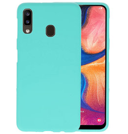 Color TPU Hoesje Samsung Galaxy A20 Turquoise