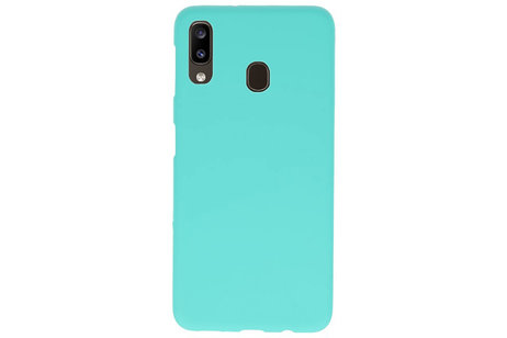 Color TPU Hoesje voor Samsung Galaxy A20 Turquoise