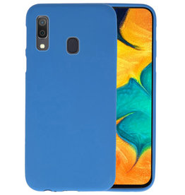 Color TPU Hoesje Samsung Galaxy A30 Navy