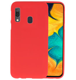 BackCover Hoesje Color Telefoonhoesje Samsung Galaxy A30 - Rood