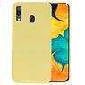 Color TPU Hoesje Samsung Galaxy A30 Geel