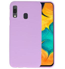 BackCover Hoesje Color Telefoonhoesje Samsung Galaxy A30 - Paars