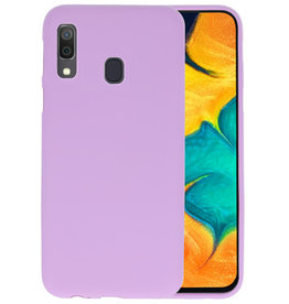 Color TPU Hoesje  Samsung Galaxy A30 Paars