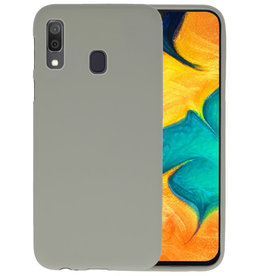 Color TPU Hoesje Samsung Galaxy A30 Grijs