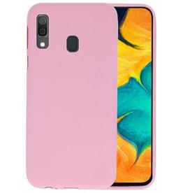 Color TPU Hoesje Samsung Galaxy A30 Roze