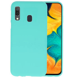 Color TPU Hoesje Samsung Galaxy A30 Turquoise