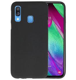 BackCover Hoesje Color Telefoonhoesje Samsung Galaxy A40 - Zwart