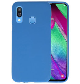 Color TPU Hoesje Samsung Galaxy A40 Navy