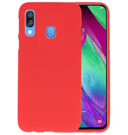 BackCover Hoesje Color Telefoonhoesje Samsung Galaxy A40 - Rood