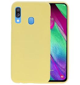 Color TPU Hoesje Samsung Galaxy A40 Geel