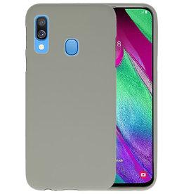 Color TPU Hoesje Samsung Galaxy A40 Grijs