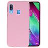 Color TPU Hoesje Samsung Galaxy A40 Roze