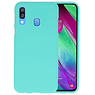 BackCover Hoesje Color Telefoonhoesje Samsung Galaxy A40 - Turquoise