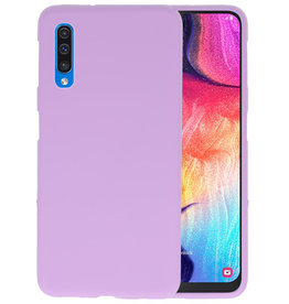Color TPU Hoesje Samsung Galaxy A50 Paars