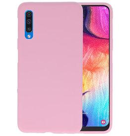 Color TPU Hoesje Samsung Galaxy A50 Roze