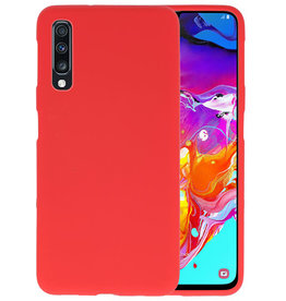 BackCover Hoesje Color Telefoonhoesje Samsung Galaxy A70 - Rood