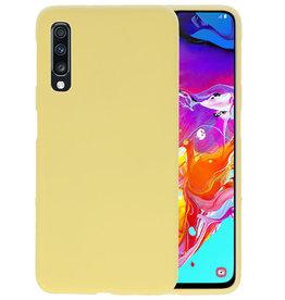 BackCover Hoesje Color Telefoonhoesje Samsung Galaxy A70 - Geel