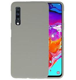 BackCover Hoesje Color Telefoonhoesje Samsung Galaxy A70 - Grijs
