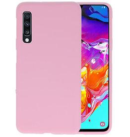 Color TPU Hoesje Samsung Galaxy A70 Roze