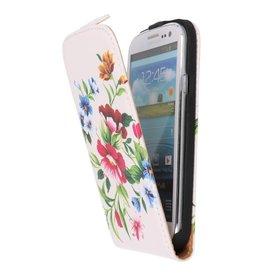 Bloem Flip Hoes voor de Samsung Galaxy S3 I9300