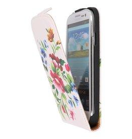 Bloem Flip Hoes voor de Samsung Galaxy S4 I9500