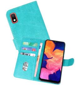 Samsung Galaxy A10 Hoesje Kaarthouder Book Case Telefoonhoesje Groen