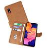 Samsung Galaxy A10 Hoesje Kaarthouder Book Case Telefoonhoesje Bruin