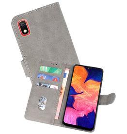 Samsung Galaxy A10 Hoesje Kaarthouder Book Case Telefoonhoesje Grijs