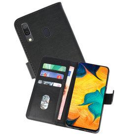 Samsung Galaxy A30 Hoesje Kaarthouder Book Case Telefoonhoesje Zwart