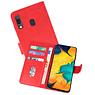 Samsung Galaxy A30 Hoesje Kaarthouder Book Case Telefoonhoesje Rood