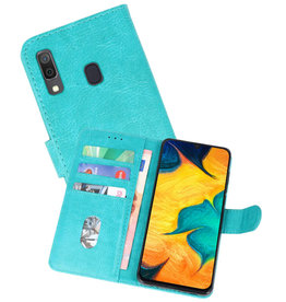 Bookstyle Wallet Cases Hoesje Samsung Galaxy A30 Groen