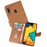 Samsung Galaxy A30 Hoesje Kaarthouder Book Case Telefoonhoesje Bruin