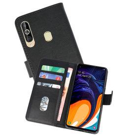 Samsung Galaxy A60 Hoesje Kaarthouder Book Case Telefoonhoesje Zwart