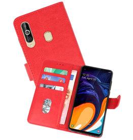 Samsung Galaxy A60 Hoesje Kaarthouder Book Case Telefoonhoesje Rood
