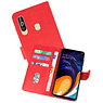 Bookstyle Wallet Cases Hoesje Samsung Galaxy A60 Rood