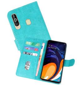 Samsung Galaxy A60 Hoesje Kaarthouder Book Case Telefoonhoesje Groen