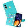 Bookstyle Wallet Cases Hoesje Samsung Galaxy A60 Groen