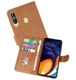 Samsung Galaxy A60 Hoesje Kaarthouder Book Case Telefoonhoesje Bruin